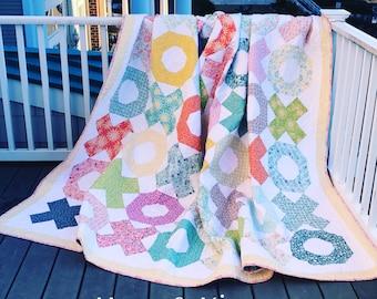 Hugs & Kisses Quilt PDF Pattern by Quilts by Laurel