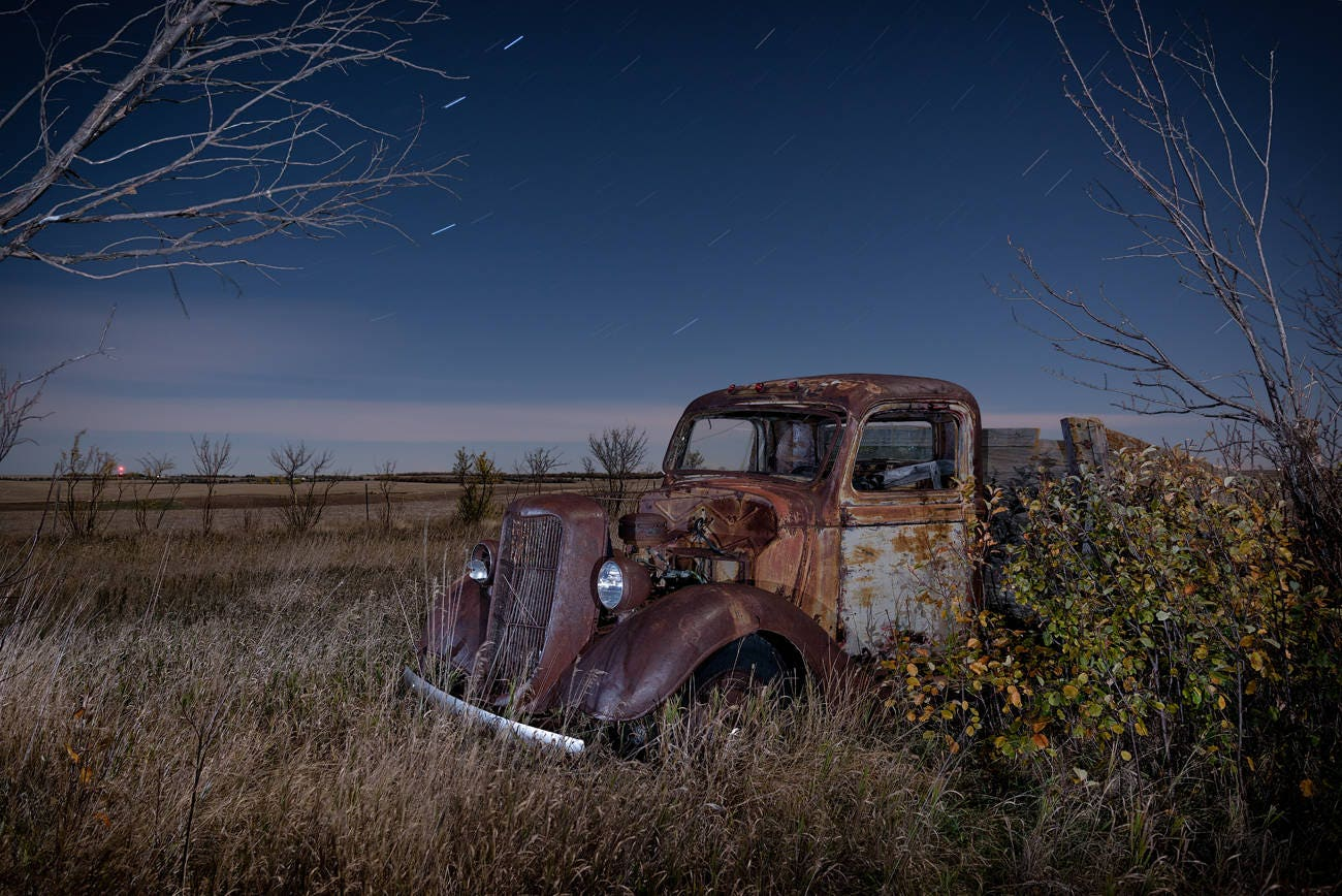 Vintage Ford Truck Rusty Old Farm Etsy 1948 Grain Abandoned Rural Landscape