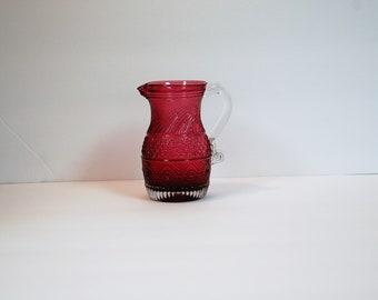 Pilgrim Glass cranberry Bennington pitcher