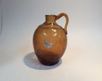 Pilgrim Glass jug amber crackle