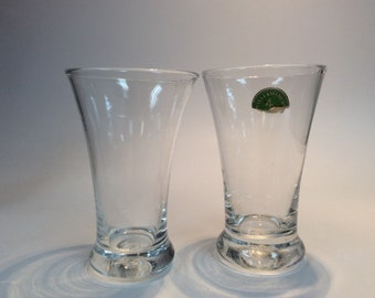 Pair of Williamsburg CW5W water glasses. Made by Blenko Glass.