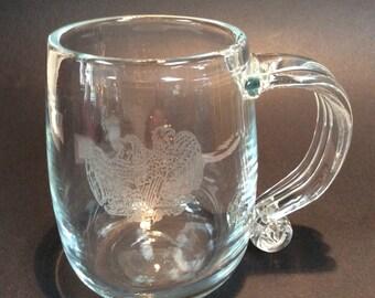 Blenko Bicentennial glass mug VB1