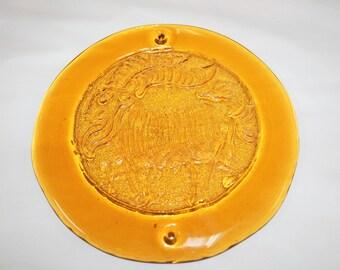 Blenko Glass Honey Ram  #65-J Suncatcher Joel Myers Design
