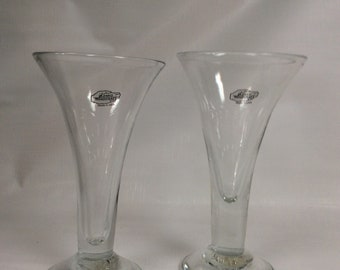 Pair of Blenko tavern glasses, 5918, 6018 from 2018