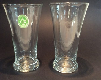 Pair of Williamsburg CW5T tea glasses. Made by Blenko Glass.