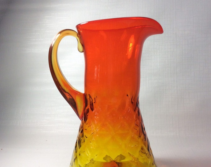 Featured listing image: Blenko Glass 6032 pitcher in tangerine