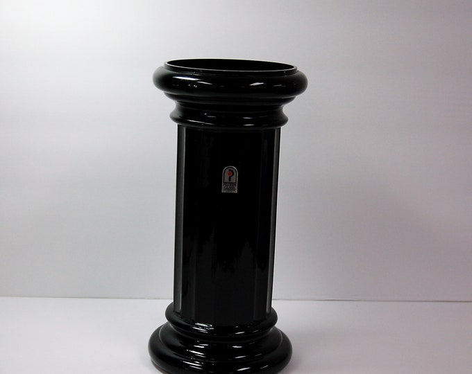 Featured listing image: Pilgrim Glass ebony black column vase