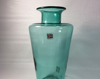 Blenko Glass 912L vase in antique green