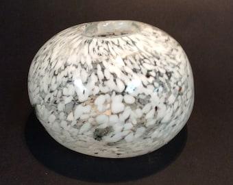 Blenko Glass 8215 rock vase. Don Shepherd design