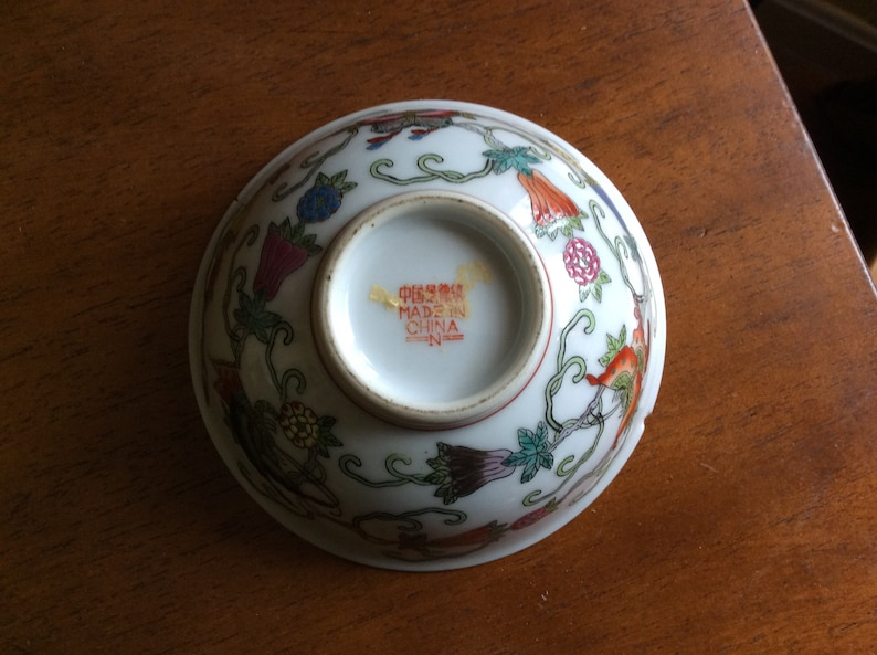 Home Decor Small Vintage Chinese Design Accent Bowl