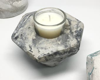 Cement candle holder & candle making craft kit