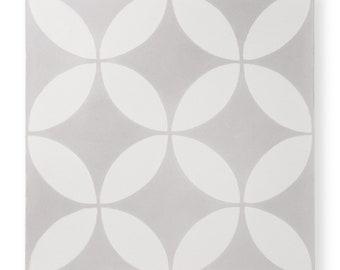 Cement Tile - Pattern: Circulos Grey