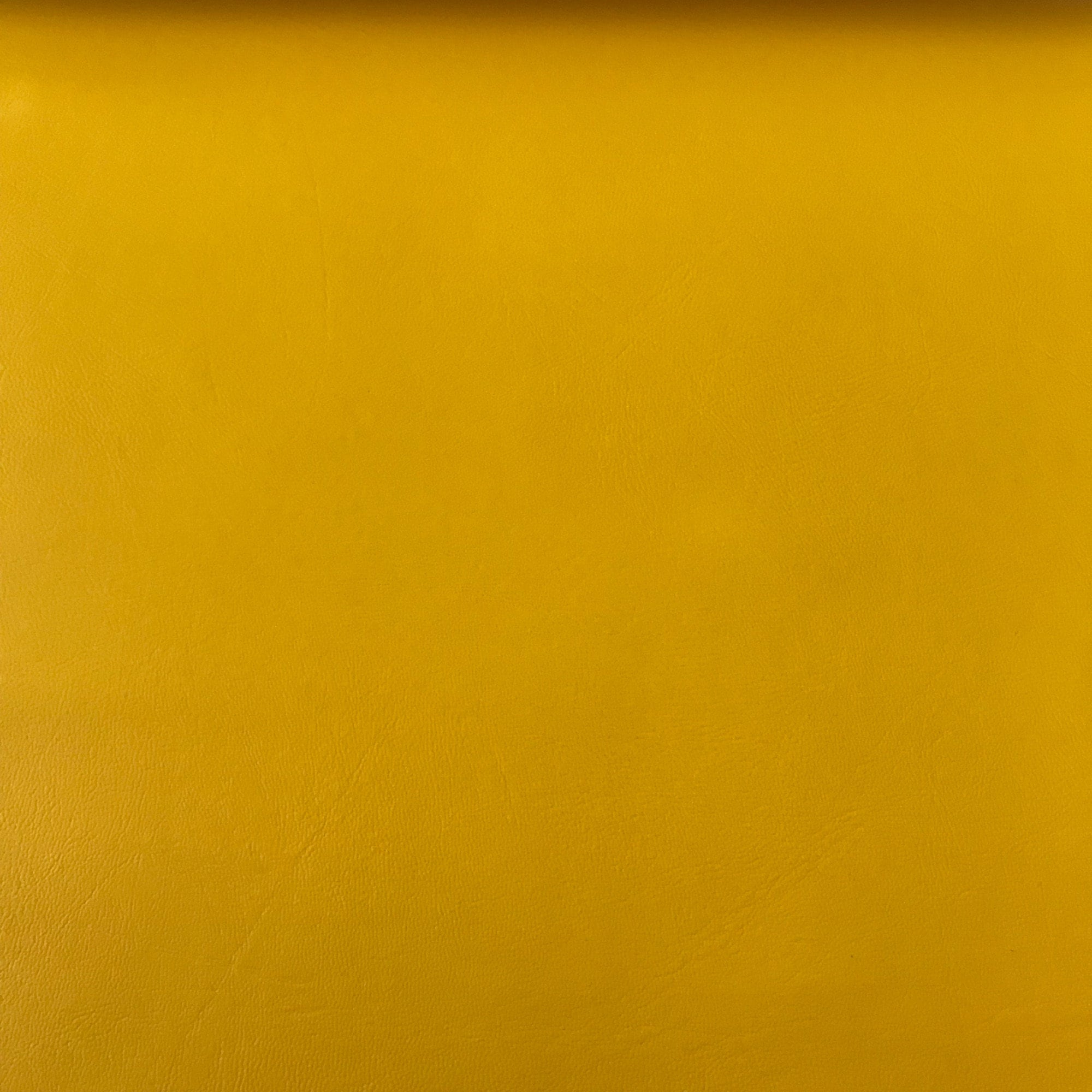 yellow faux leather vinyl fabric with a smooth grain, Sold in A4 , A3 and  Rolls