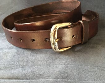 leather belt. gift. Custom hand made original craft. All Australian.