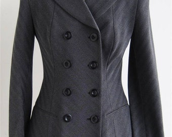 Vintage Donna Karan fitted double breasted skirt suit