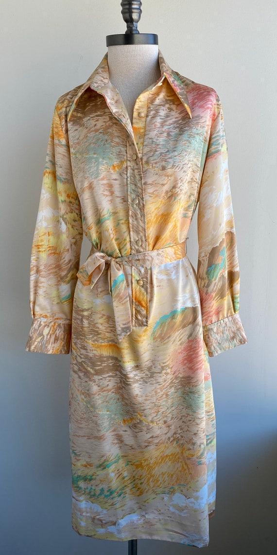Vintage 70s Lanvin Polyester Dress