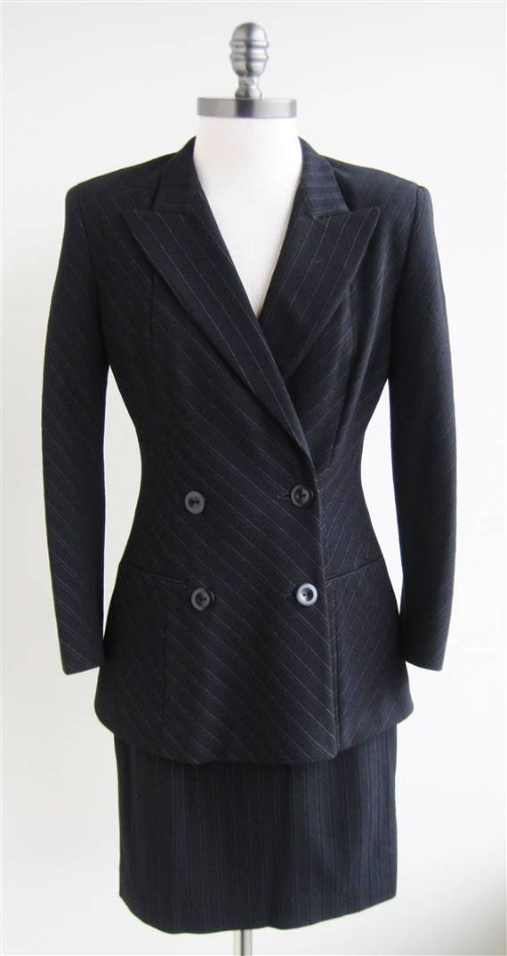 Vintage Donna Karan Double Breasted Skirt Suit
