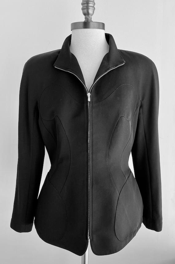 Vintage Thierry Mugler Zip Gabardine Jacket - image 1