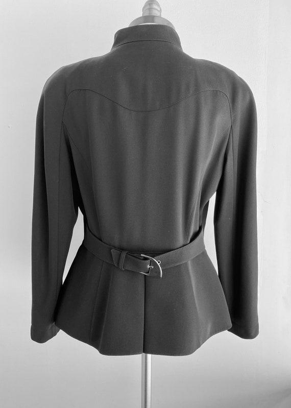 Vintage Thierry Mugler Zip Gabardine Jacket - image 4