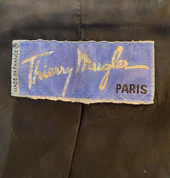 Vintage Thierry Mugler Zip Gabardine Jacket - image 5