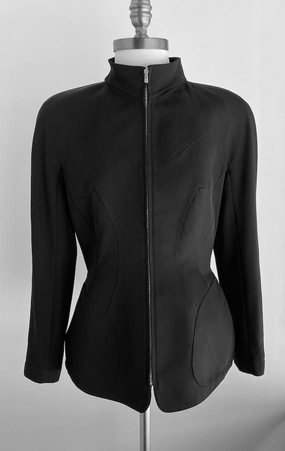 Vintage Thierry Mugler Zip Gabardine Jacket - image 2