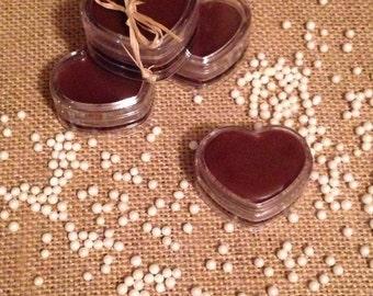 Chocolate Lip Balm, Valentine's Day, Heart, Lip Balm, Moisturizing