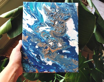Lost at Sea || Blue Water || Acrylic Painting