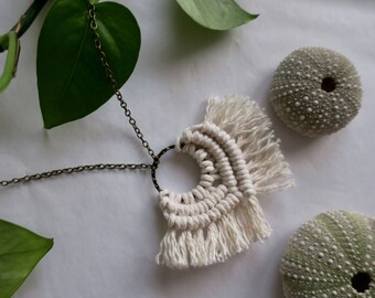 I'm With You //  Macramé Necklace