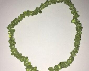 Peridot Bracelet ( very small chips )