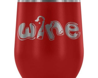 Graphic 12 oz Stainless Steel Wine Tumbler