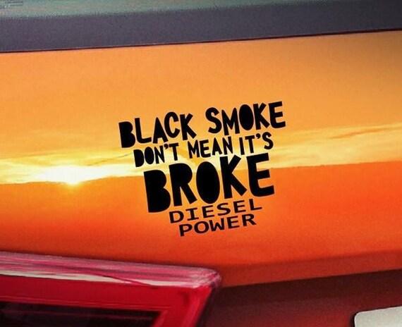 Schwarzer Rauch Diesel Power Sticker Aufkleber Auto Hobby Etsy