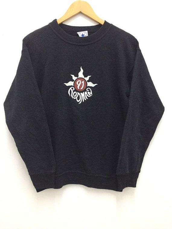 Vintage Dennis Rodman 91 Embroidery Logo Sweatshir