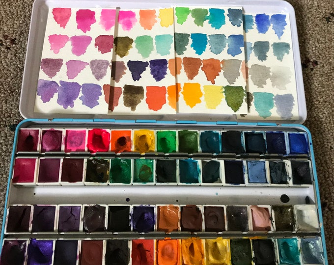 Aquanut Handcrafted Watercolors 52 Half Pan Set