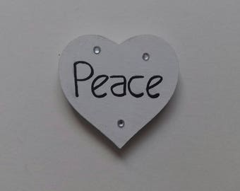 Love and peace fridge magnets