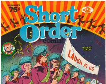 Short Order Comix #2 1974 Underground Comic - First and Only Printing
