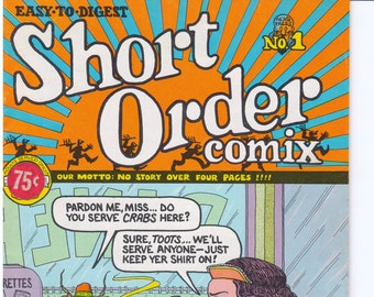 Short Order Comix No. 1 1973 Underground Comic First and Only Printing