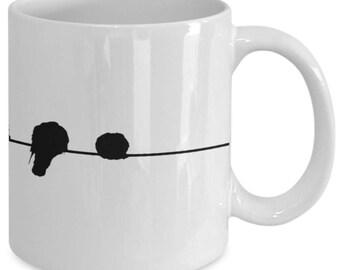Birds On A Wire Mug - Bird Mug - Coffee Mug - Animal Mug