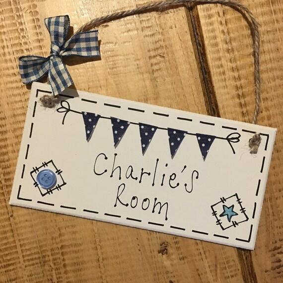 personalised name plaque door nursery bedroom sign gift baby etsy