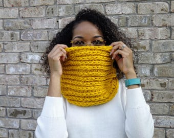 READY TO SHIP: Mustard Cowl