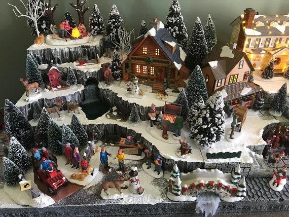 Christmas Village Platform.Custom Christmas Village Display Platform Lemax Department 56 Snow Village