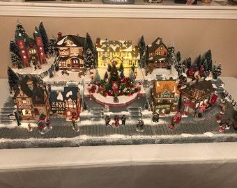 Custom Christmas Village Display Platform (Lemax, Department 56, snow village)