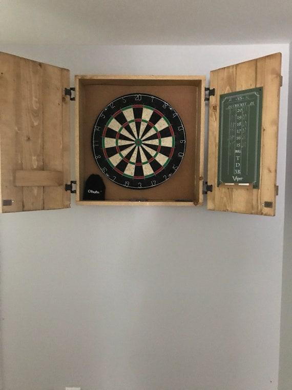 Custom Rustic Dart Board Cabinet | Etsy