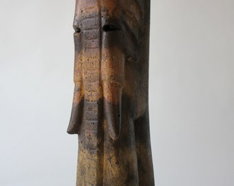 Browny Yellow Elephantman sculpture-2017