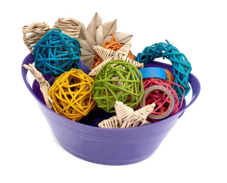 Tiny Treasures Basket of Small Animal Chew Toys Loved by image 0