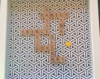 Personalised Scrabble Frame - Family - Gift