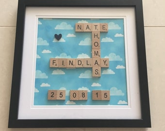 Personalised Scrabble Frame - Birthday