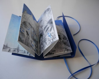 Bird - Silent Story - Concertina artist book