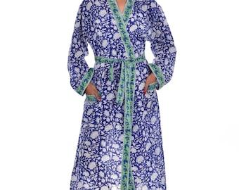 Cotton Kimono Bath Robe Etsy