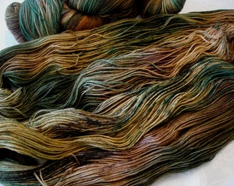 READY TO SHIP, Speckled and Hand Dyed Yarn, Color - Sleepy Forest**#