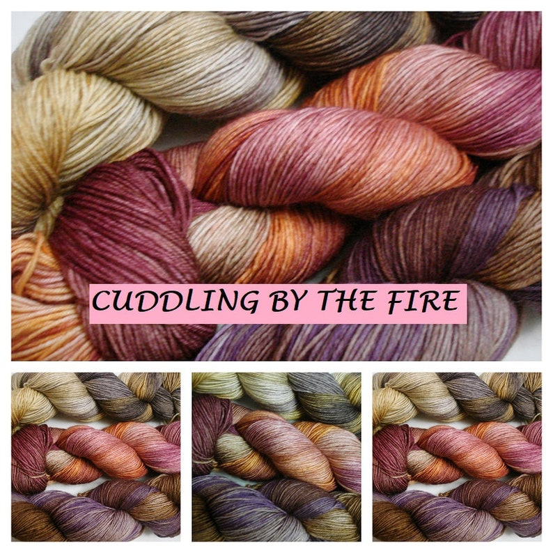 Tonal Cuddling by the Fire Variegated AG2N Speckled Yarn Set Sprinkles A Guy Two Needles colorway Hand Dyed Yarn 3 100g DK